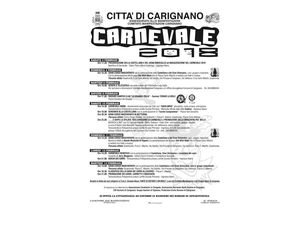 Carnevale di Carignano 2018